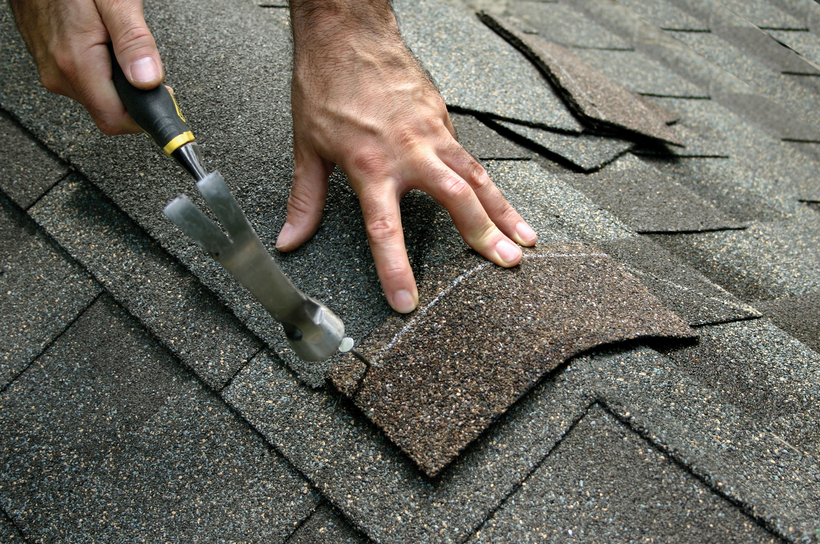Making a roof repair