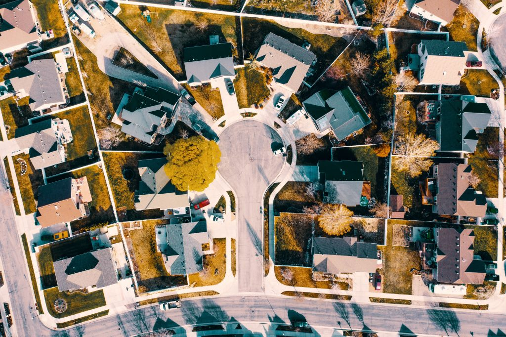 Aerial Vies of residential area