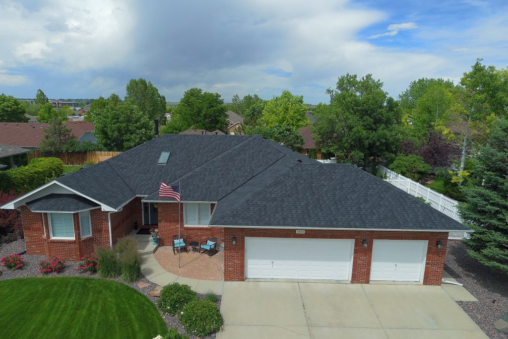 A residential roof repair
