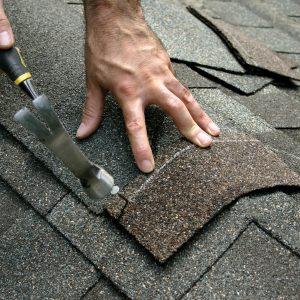 Making a roof repair