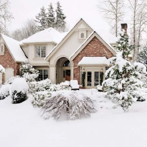 Suburban house in the snow; Shutterstock ID 78798934; PO: Cat Overman; Job: blog post